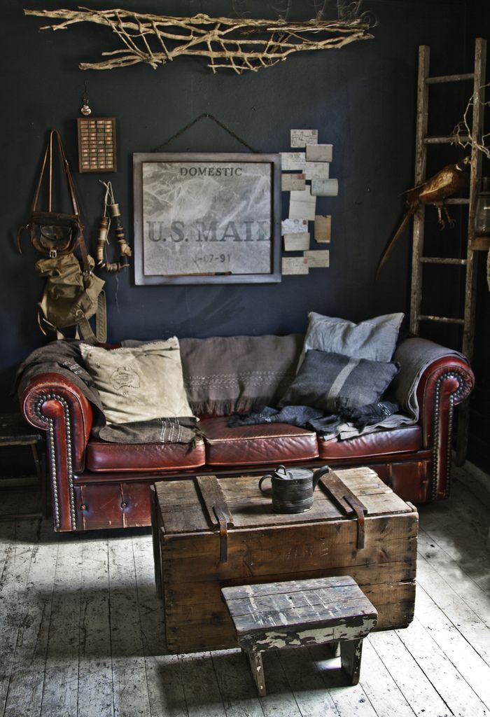 Charcoal Grey wall contrasts beautifull