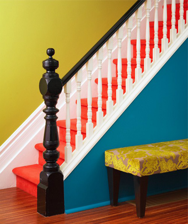Orange Pop Stairs decal ideas