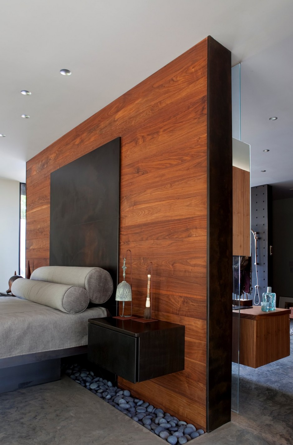 Bedroom Wood Accent Wall Master Design