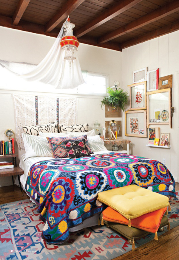 Marvelous Small Bohemian Bedroom Design