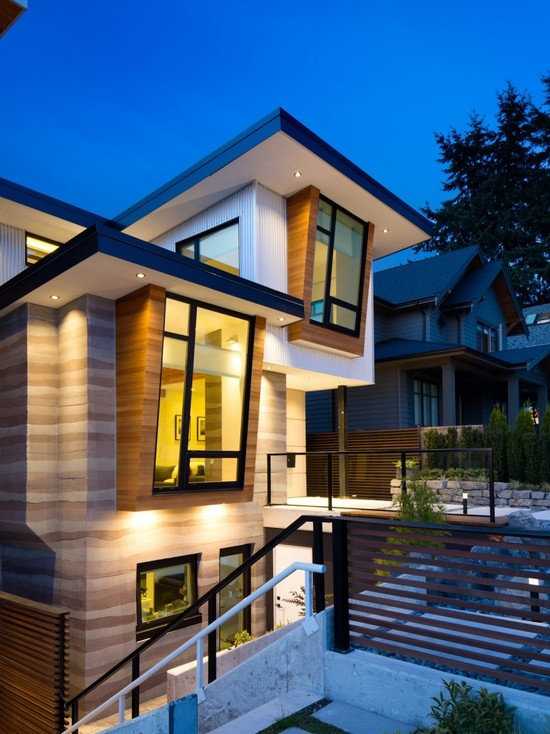 71 contemporary exterior design photos for Small homes exterior design