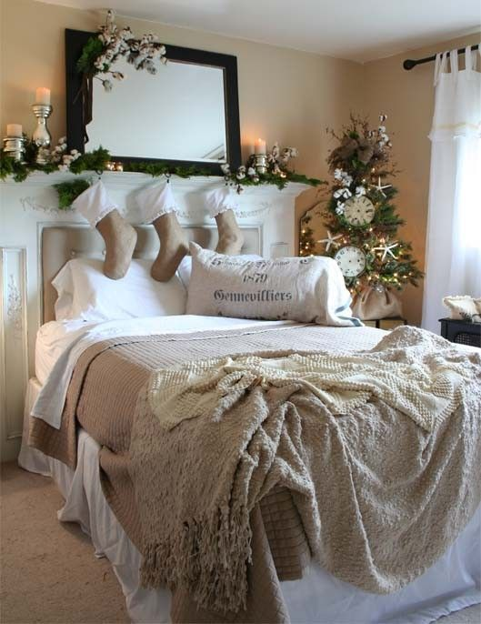 christmas bedroom decoration ideas images