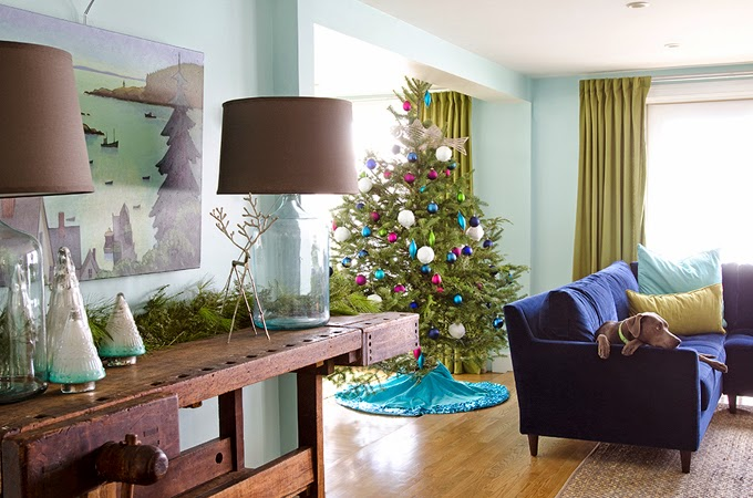 DIY Christmas Living Room Decoration