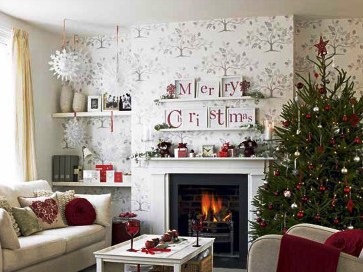 Christmas living room decorations ideas pictures for Xmas living room ideas