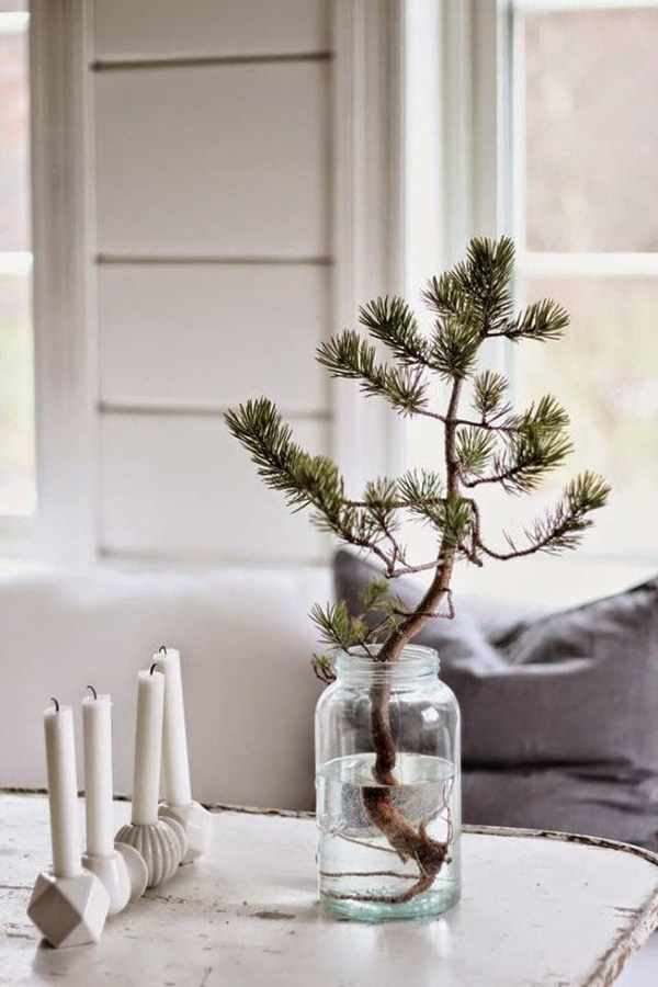 Simple christmas decoration home ideas pictures for Simple house decoration
