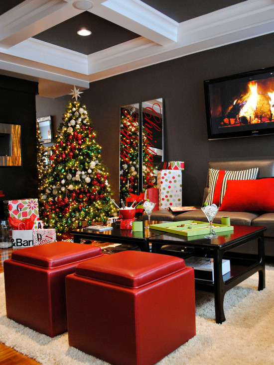 Christmas House Decoration Ideas. Christmas Living Room Decorations Ideas