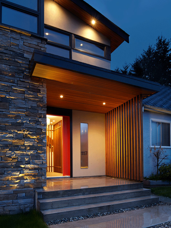 71 contemporary exterior design photos for Exterior stone design houses