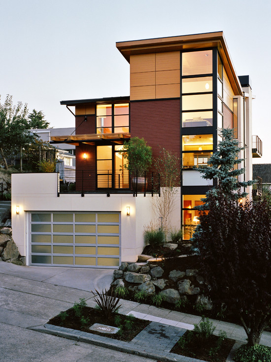 71 contemporary exterior design photos for Home design exterior ideas in india