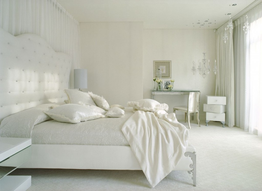 41 white bedroom interior design ideas pictures for Room decor inspiration