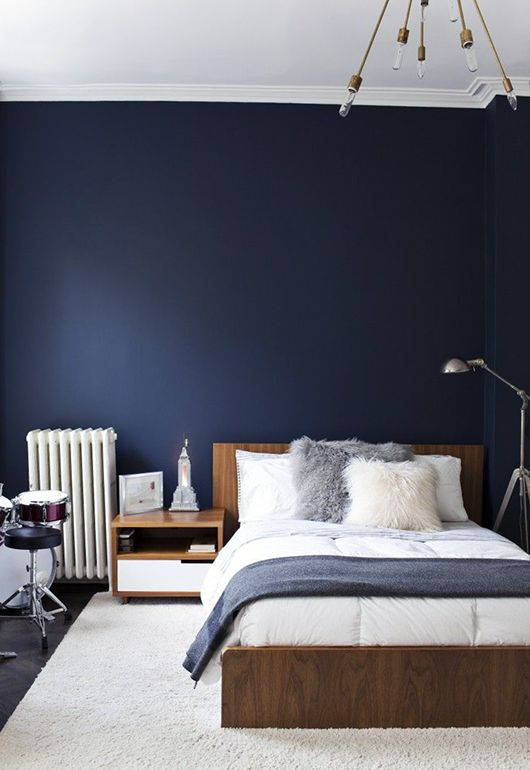 navy dark blue bedroom design ideas pictures