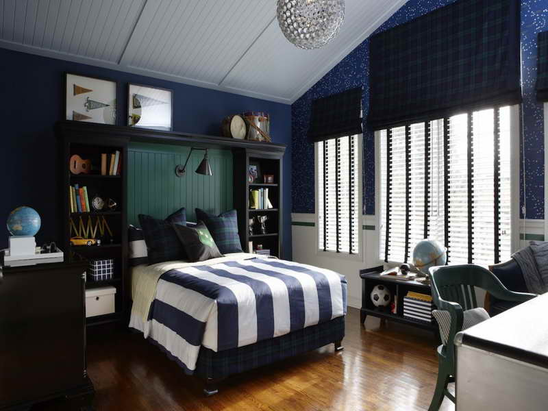 dark blue bedroom - photo #21