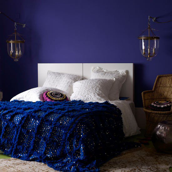 Navy dark blue bedroom design ideas pictures - Blue bedroom ideas ...