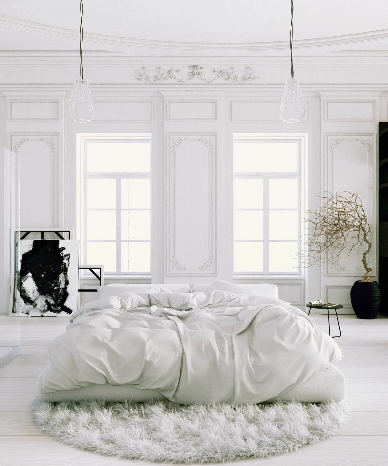 41 white bedroom interior design ideas pictures Parisian style home