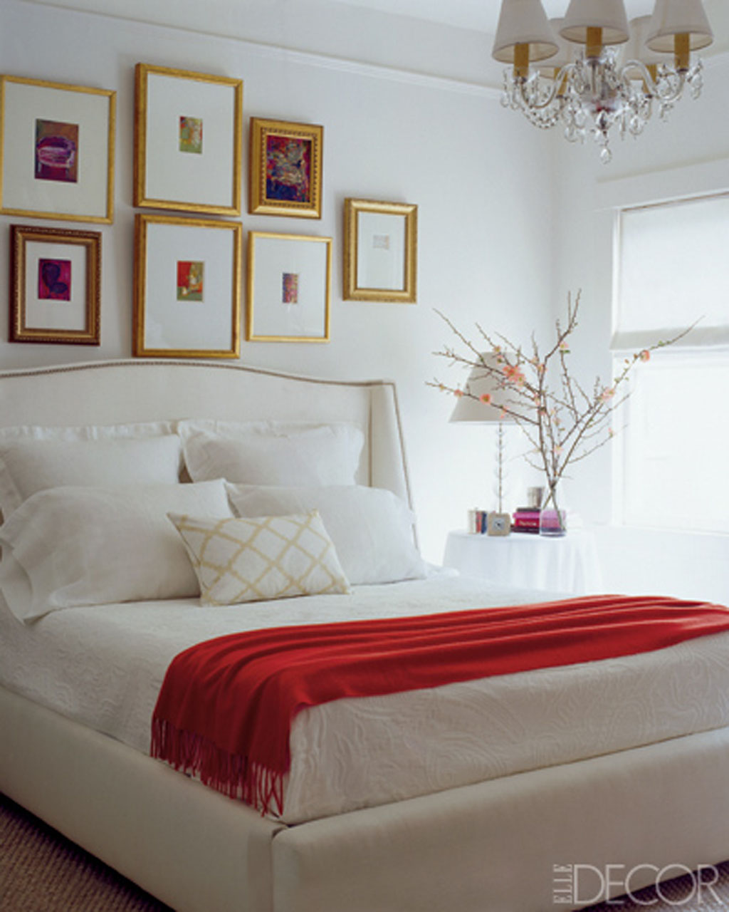 41 white bedroom interior design ideas pictures for Interior design for bedroom red