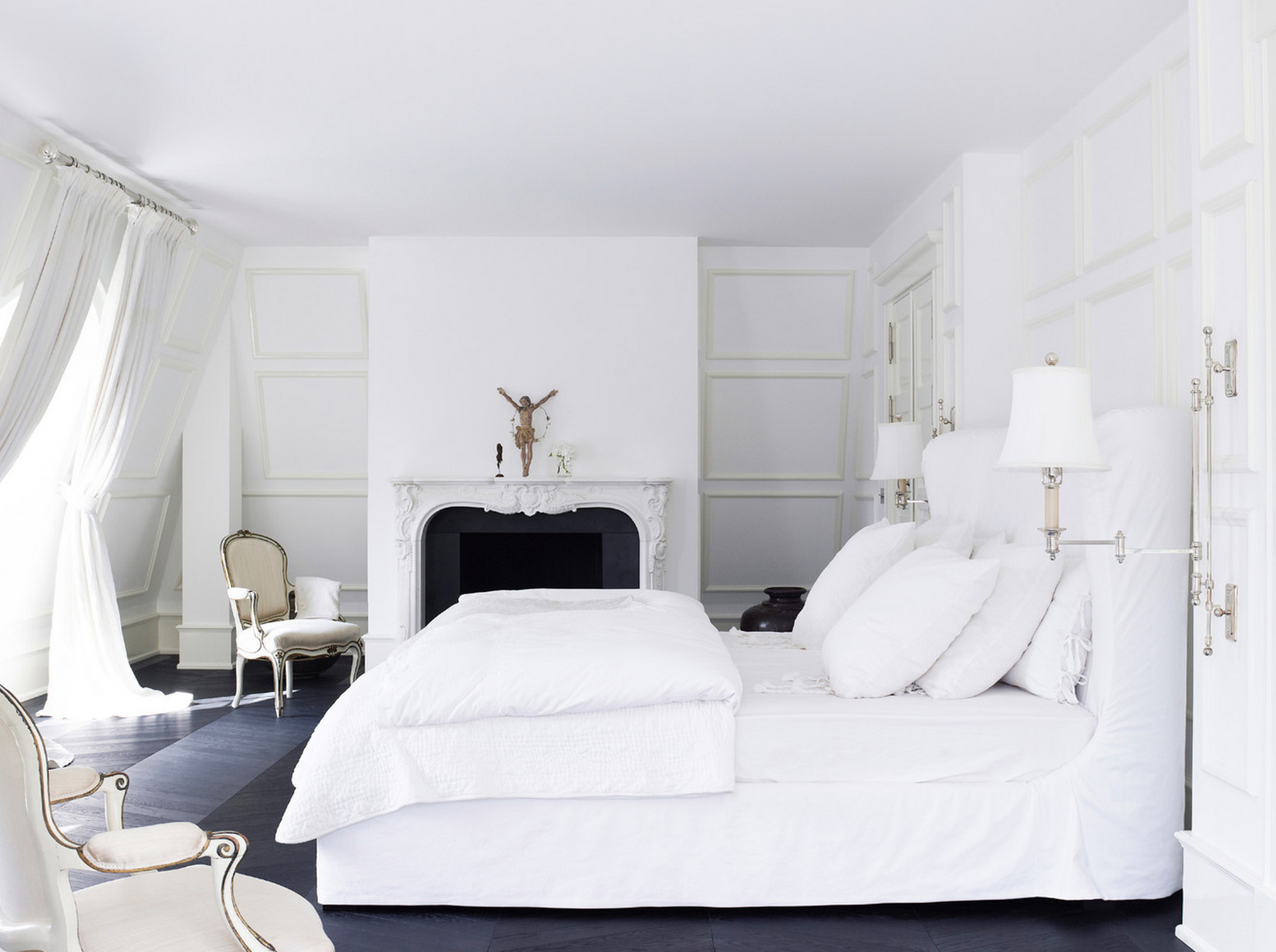 41 white bedroom interior design ideas pictures for White bedroom collection