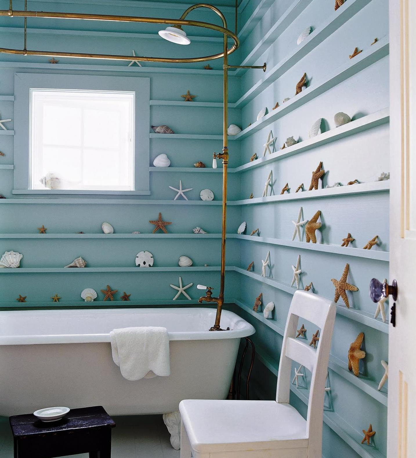 beach themed bathroom decoration ideas house interior style - Ocean Themed Home Decor