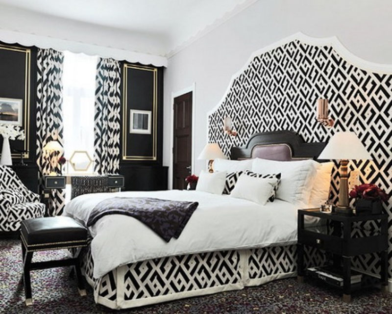 black and white bedroom interior design. beautiful ideas. Home Design Ideas