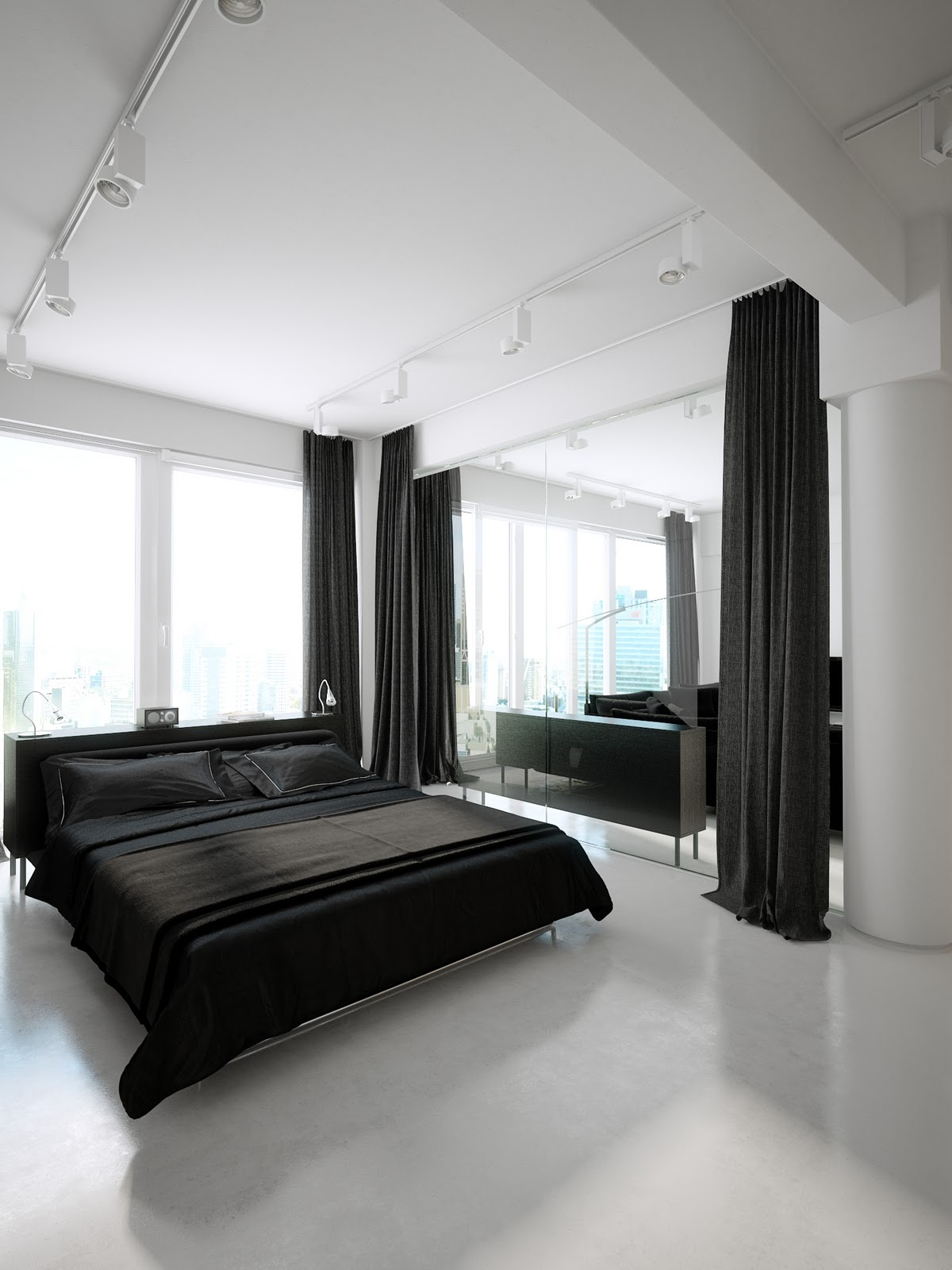 Black and white bedroom interior design ideas for Interior designs for bedroom