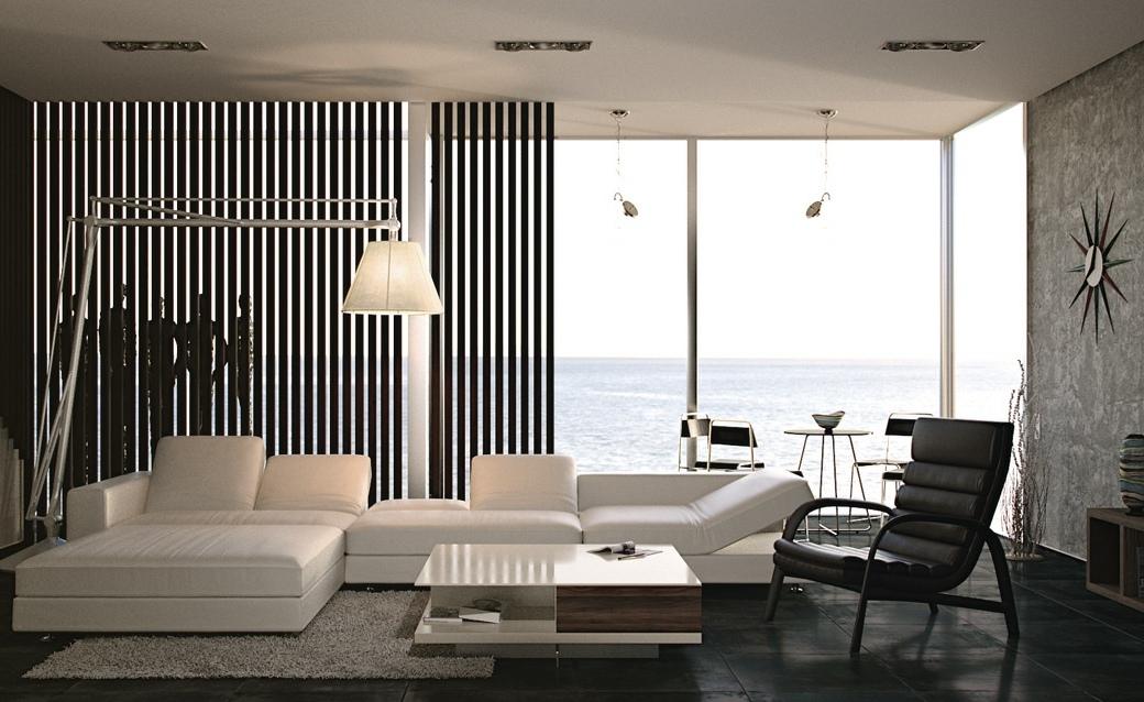Black and white living room interior design ideas - Apartment living room ideas ...