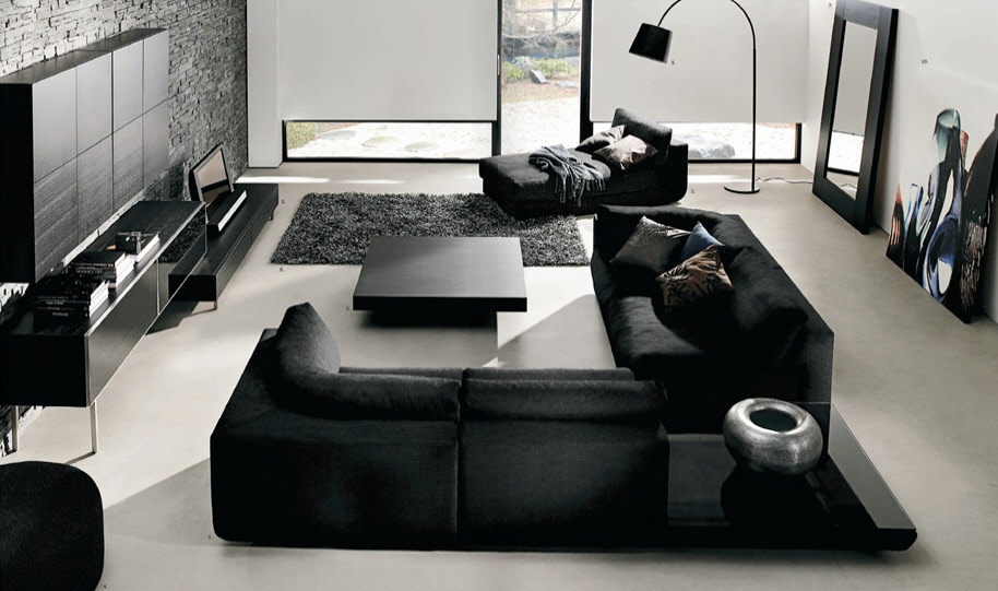 black white living room - Black And White Living Room Decor