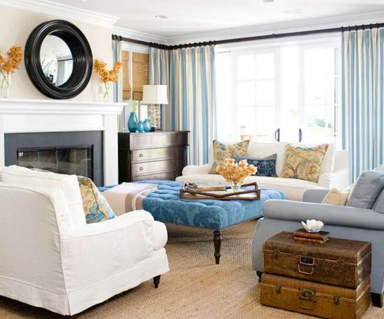 10 beach house decor ideas for Beach decor ideas living room