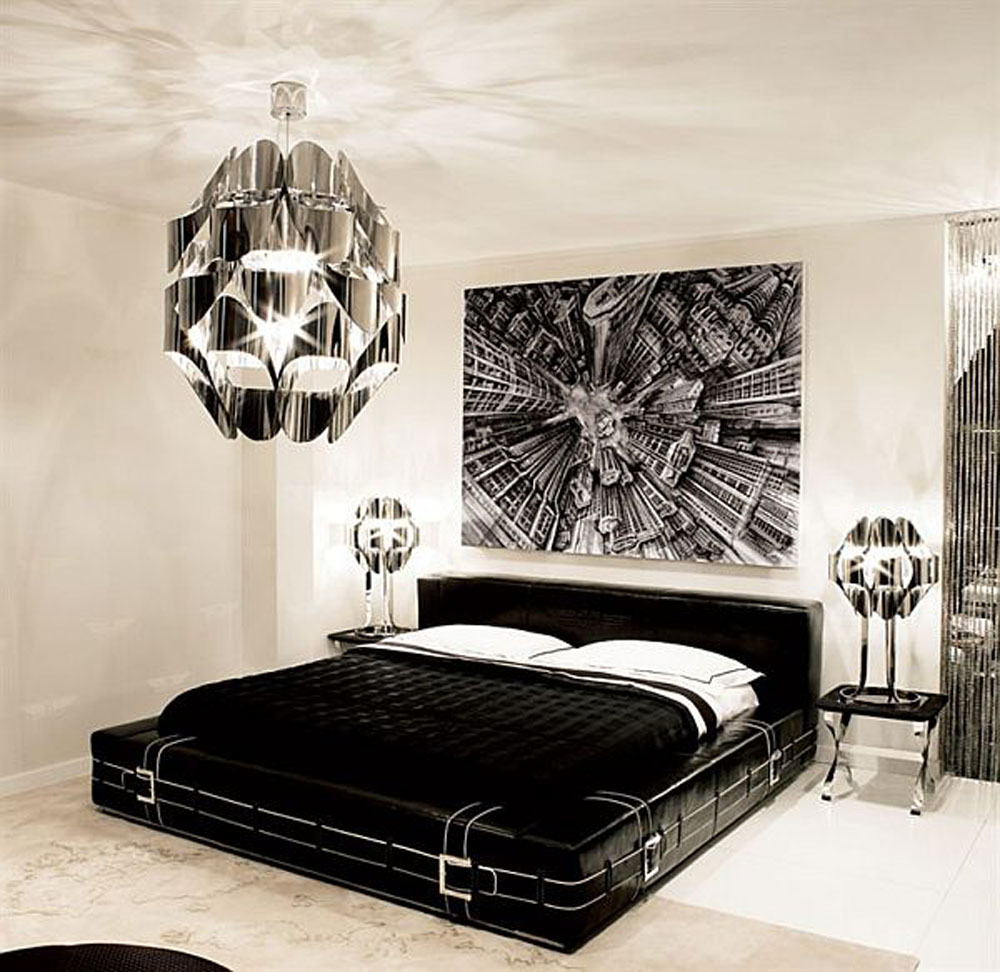 Bedroom paint designs black and white - Cool Black And White Bedroom Design Ideas