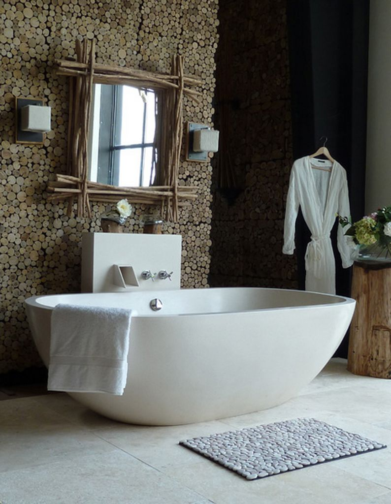 23 natural bathroom decorating pictures for Bathroom style ideas