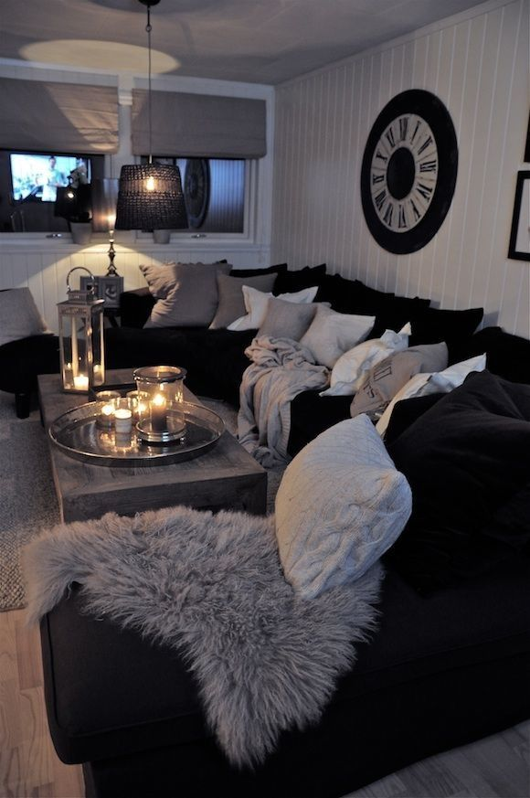 Black and white living room interior design ideas for White living room ideas pinterest
