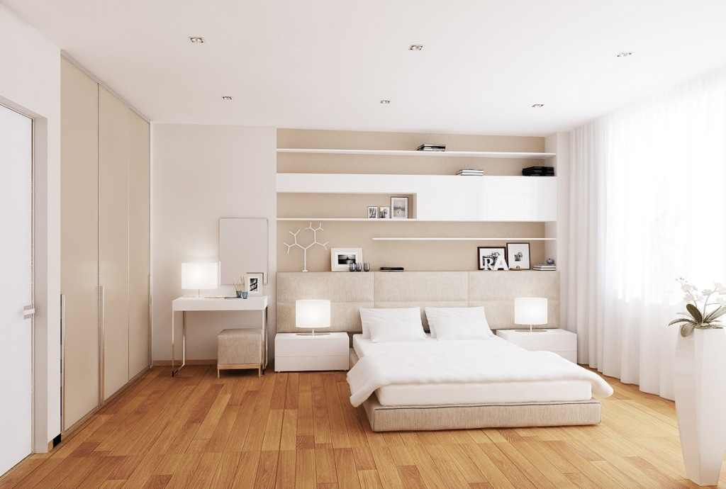 minimalist white bedroom decor ideas