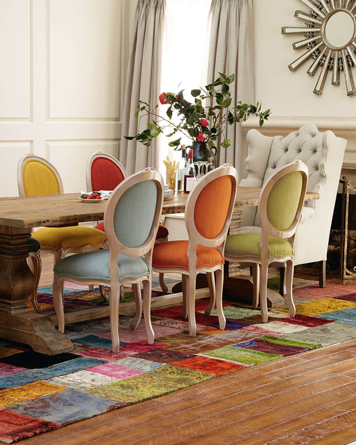 20 mix and match dining chairs design ideas - Colorful dining room tables ...