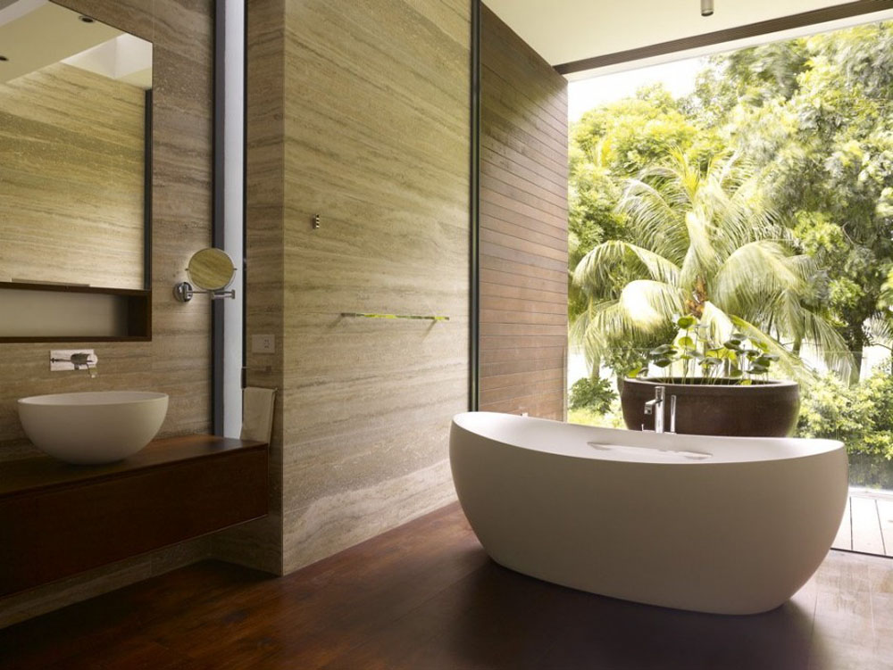 23 natural bathroom decorating pictures for Salle de bain nature