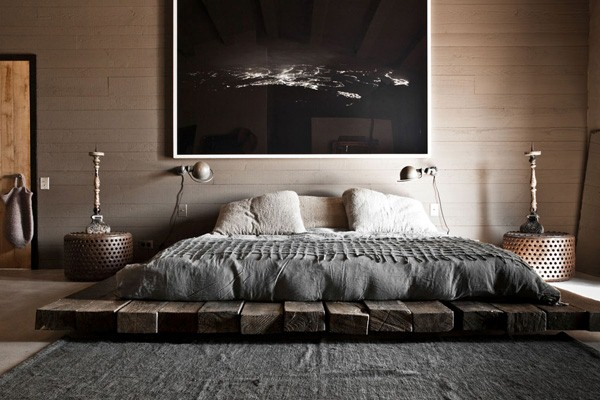 21 interesting natural colors bedroom design ideas - Bedroom with mattress on the floor ...