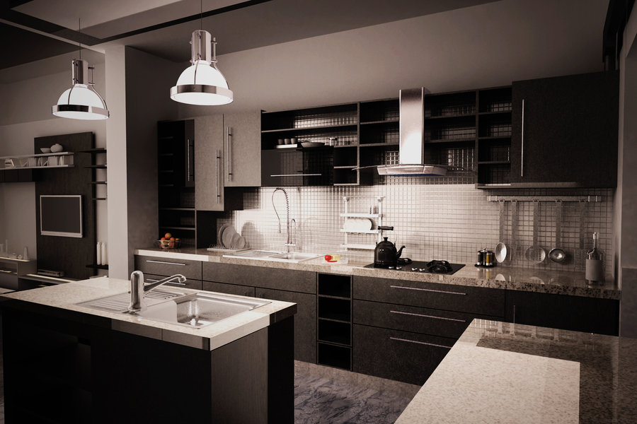 12 playful dark kitchen designs ideas pictures for Best kitchen design ideas