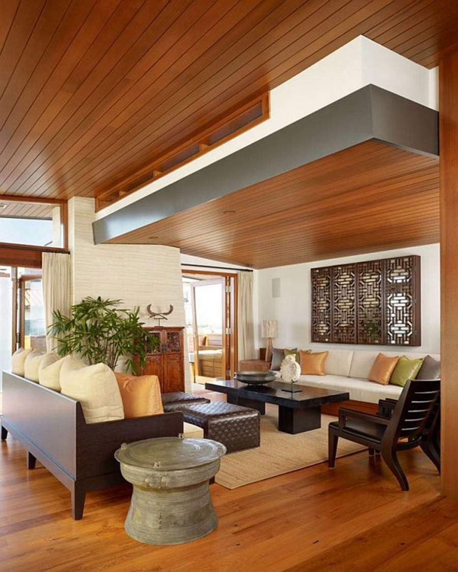 Contemporary Ceiling Designs For Living Room: 21 Most Unique Wood Home Decor Ideas
