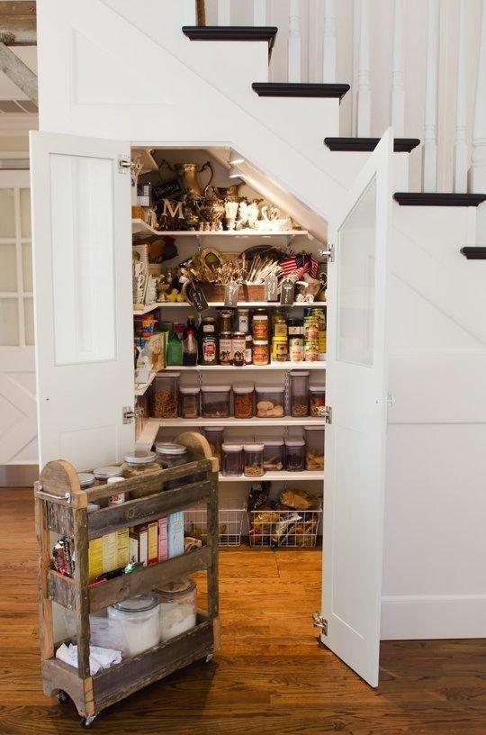 Organized Kitchens Under Stairs Storage