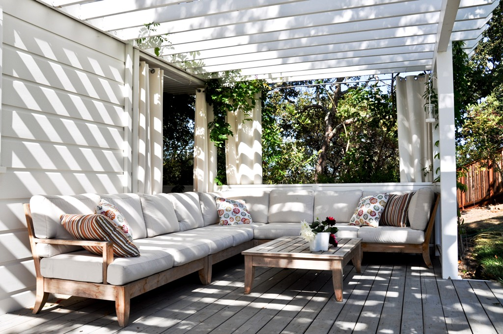 Stunning Decorate Outdoor Design Ideas With White Chairs And Wooden Floors