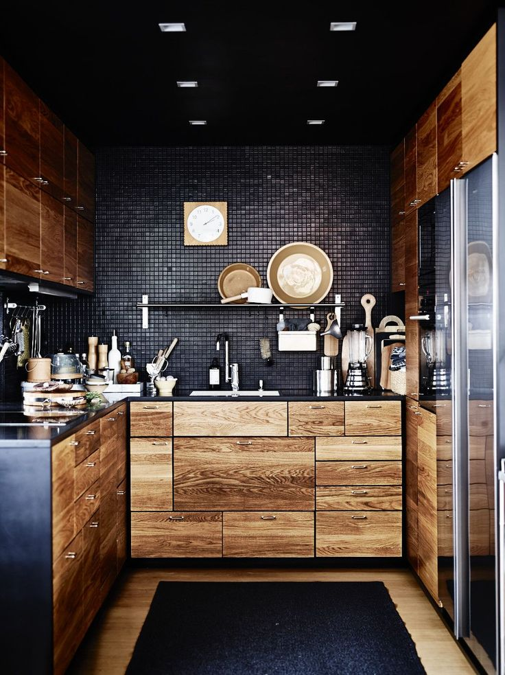 Stylish Small Black Kitchen Designs