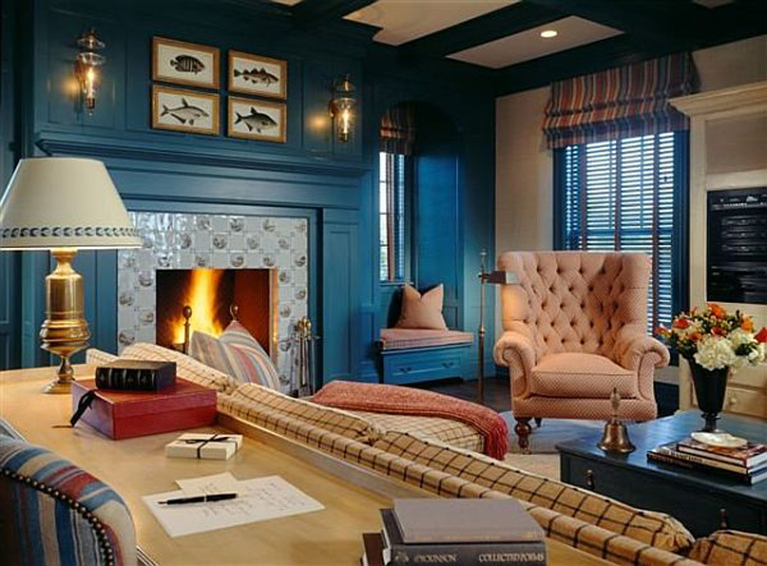 blue and black living room ideas 15 beautiful blue wall design ideas 24879