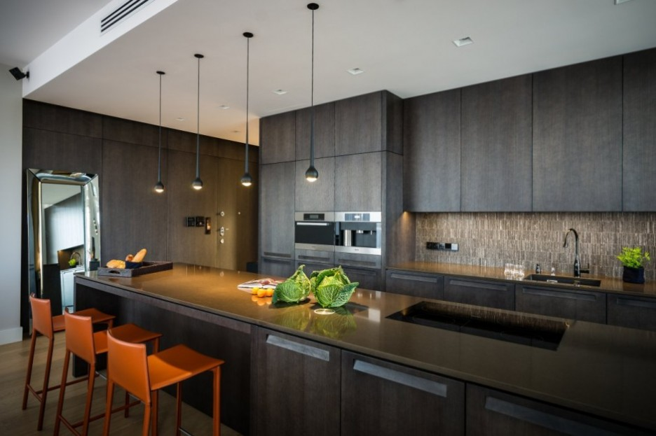 12 Playful Dark Kitchen Designs Ideas Pictures