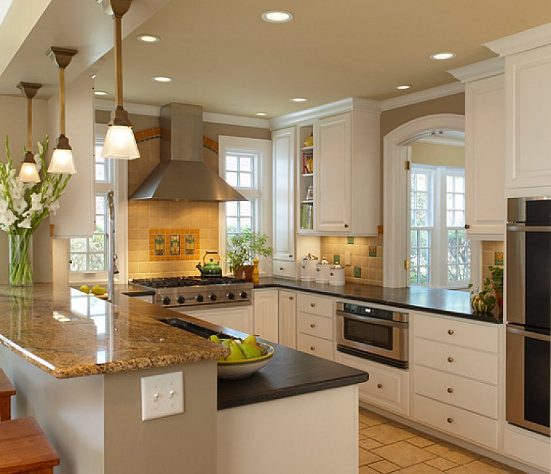 21 small kitchen design ideas photo gallery for Small kitchen design ideas photo gallery