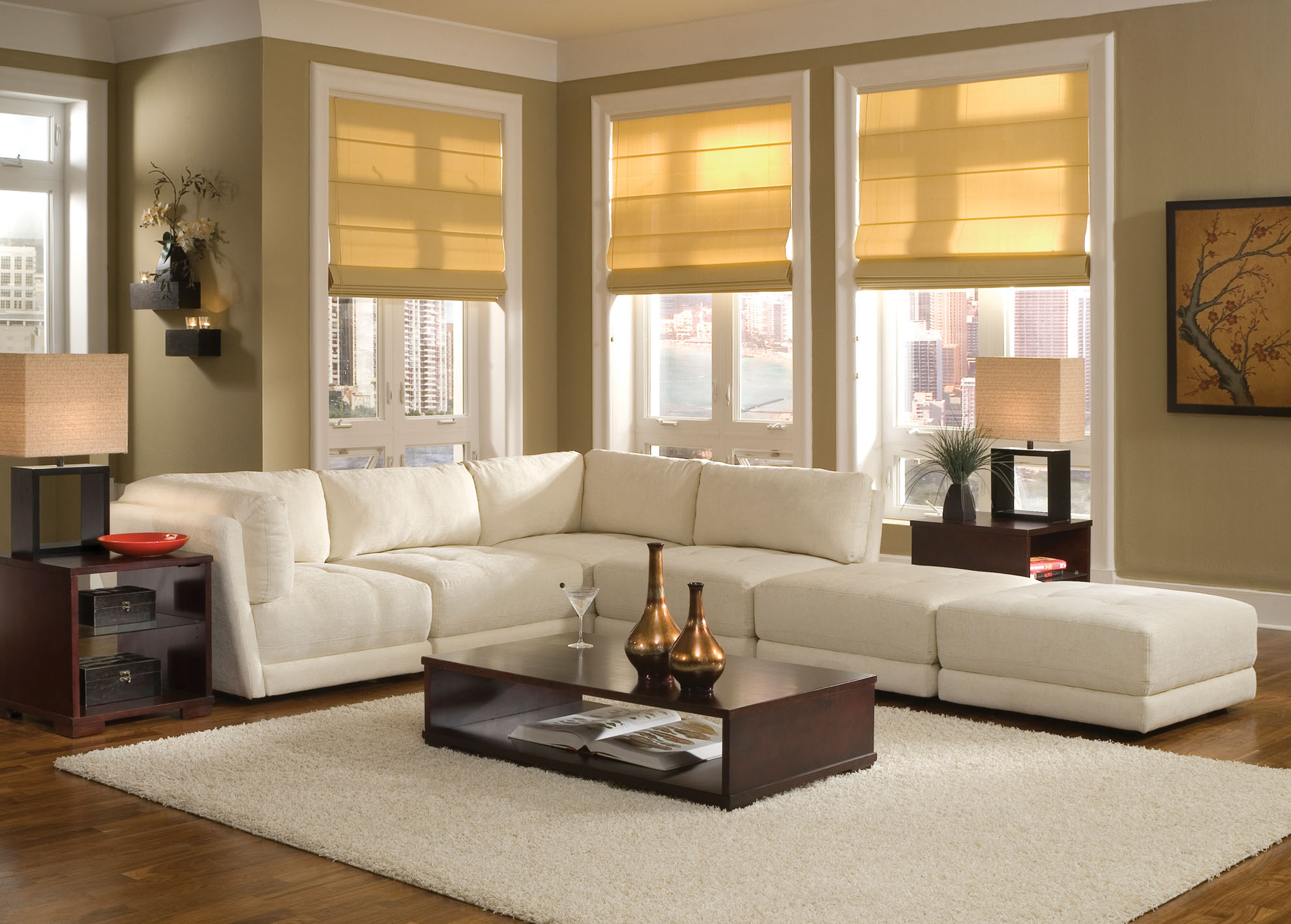 White Sofa Design Ideas & For Living Room