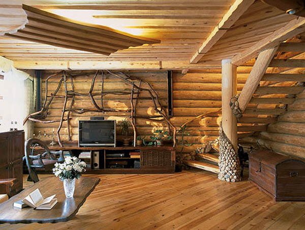 Bon Wood Logs Interior Decorating Furniture Design