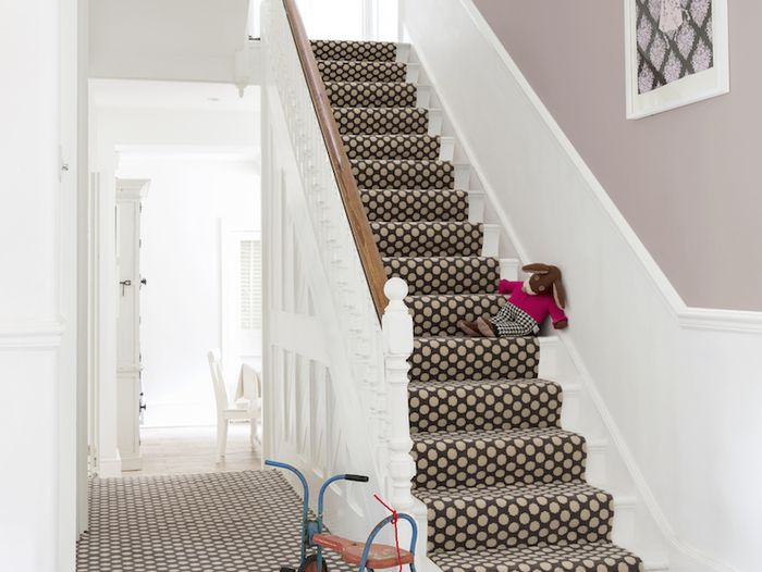 Alternative Flooring Quirky B Spotty Grey Polka Dot stairs
