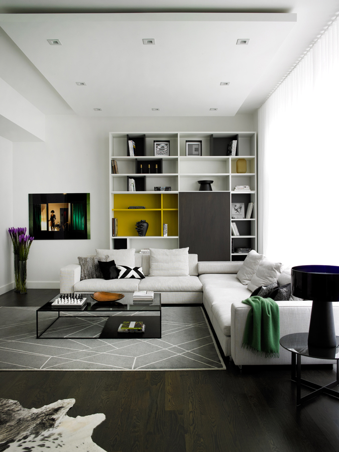 Modern interior design by noha hassan from new york - Interior design ceiling living room ...