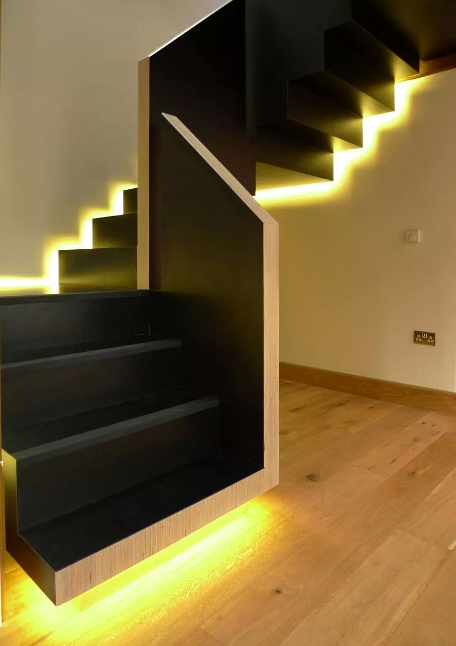 21 staircase lighting design ideas pictures. Black Bedroom Furniture Sets. Home Design Ideas