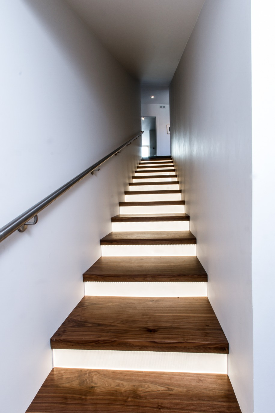 Staircase Led Lighting. Elegant Wooden Staircase Design With Modern Led  Lighting Style