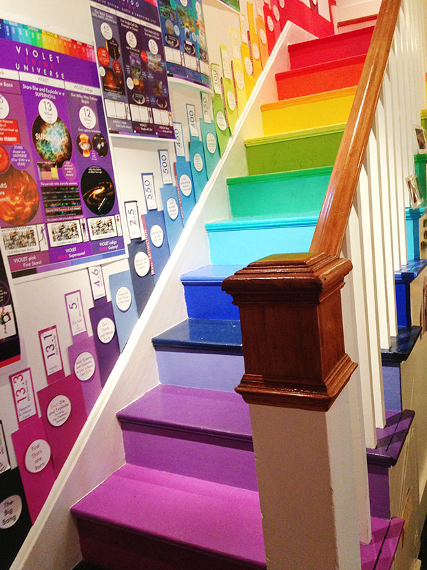 rainbow stairs Design Pictures