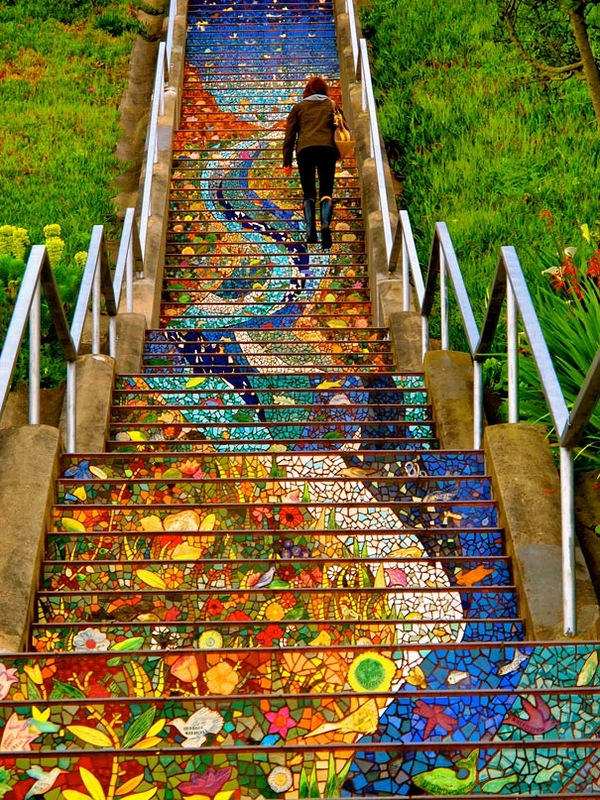 rainbow stairs san francisco