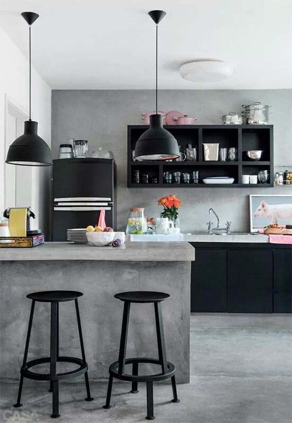 A Small Pop Home In Brazil (Via). Industrial Kitchen Designs Ideas