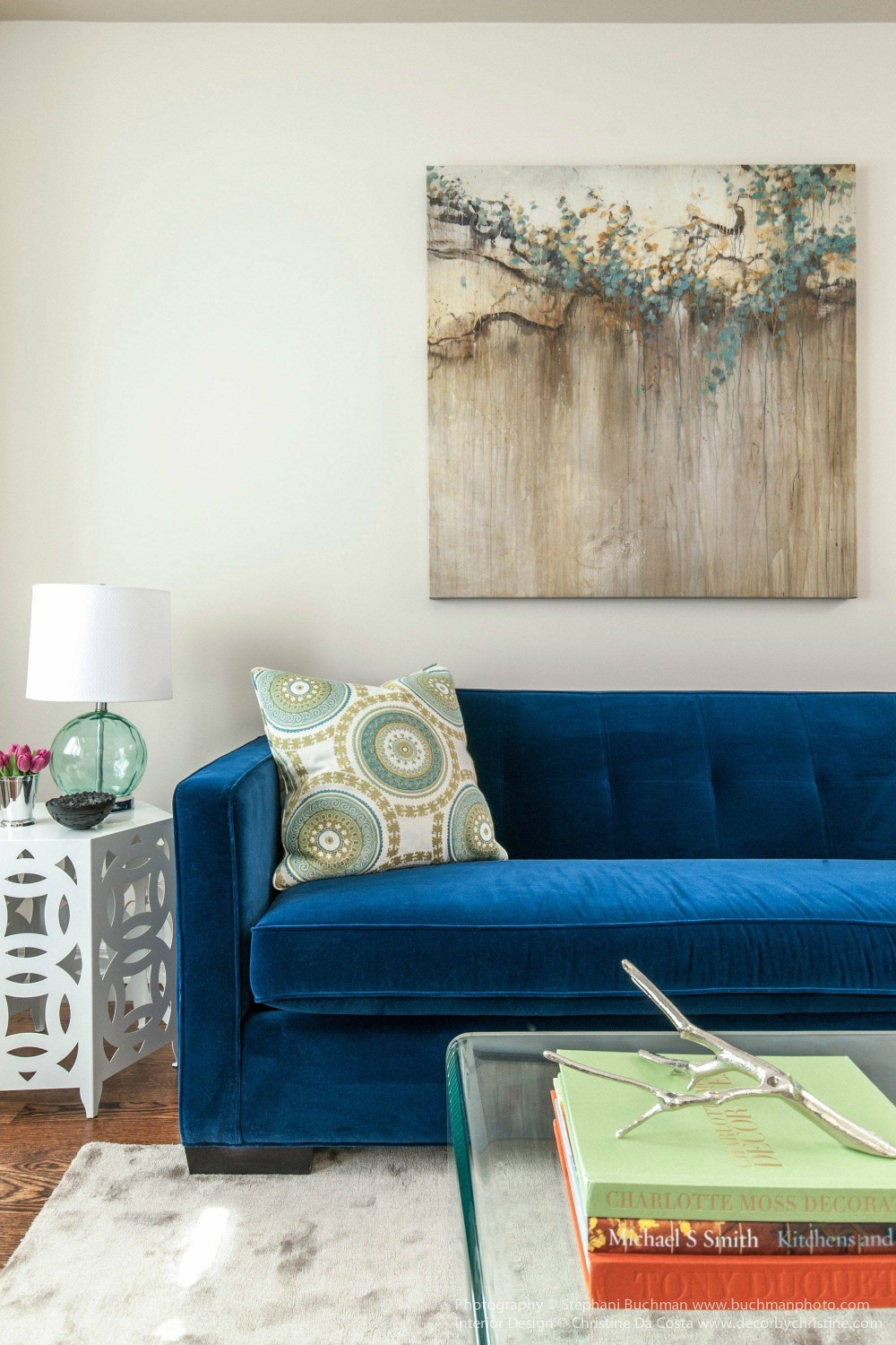 Types Of Blue Velvet Sofa